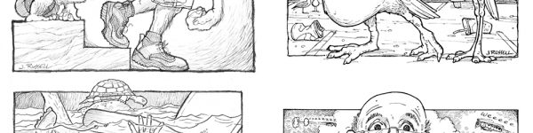 Adirondack Explorer - Black & White Cartoons